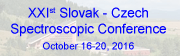 XXIst Slovak - Czech Spectroscopic Conference
